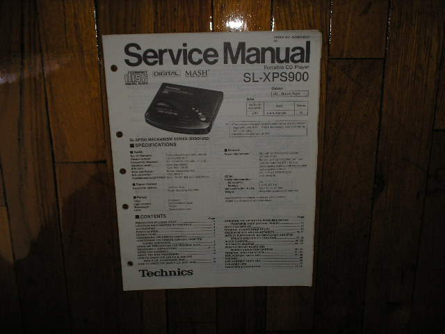 SL-XPS900 Portable CD Player Service Manual