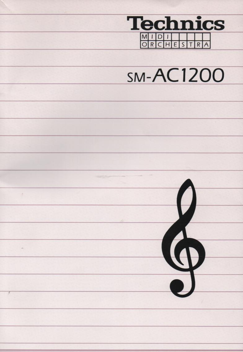 SM-AC1200 Midi Orchestra Operating Instruction Manual