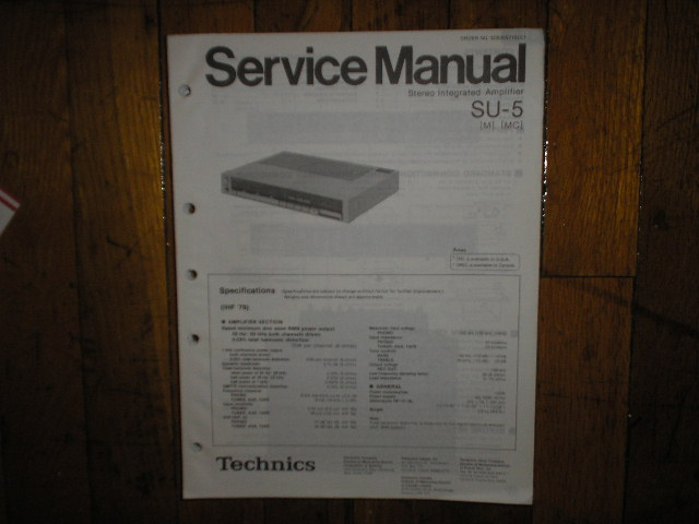 SU-5 Amplifier Service Manual
