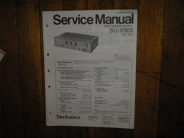 SU-V303 Amplifier Service Manual