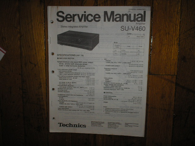 SU-V460 Amplifier Service Manual