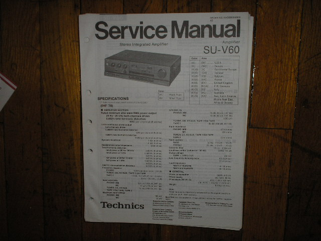 SU-V60 Amplifier Service Manual