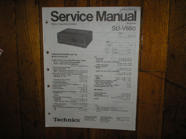 SU-V660 Amplifier Service Manual