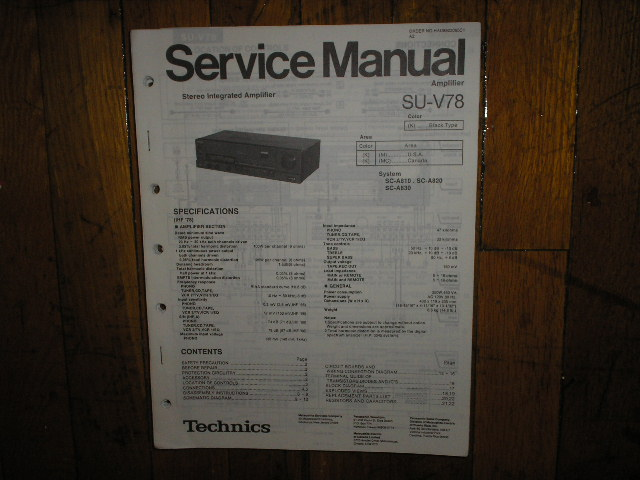 SU-V78 Amplifier Service Manual