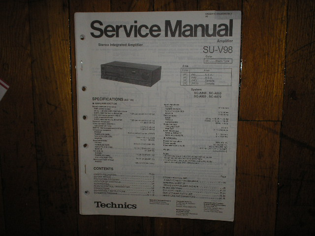 SU-V98 Amplifier Service Manual