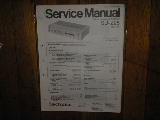SU-Z25 Amplifier Service Manual