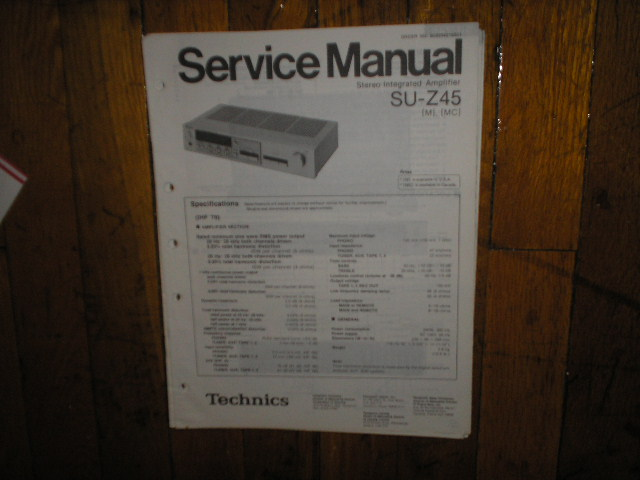 SU-Z45 Amplifier Service Manual