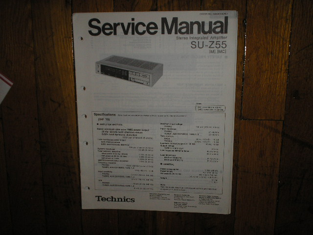 SU-Z55 Amplifier Service Manual