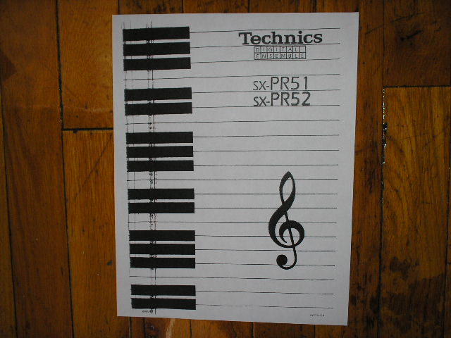SX-PR51 SX-PR52 Organ Keyboard Operating Instruction Manual