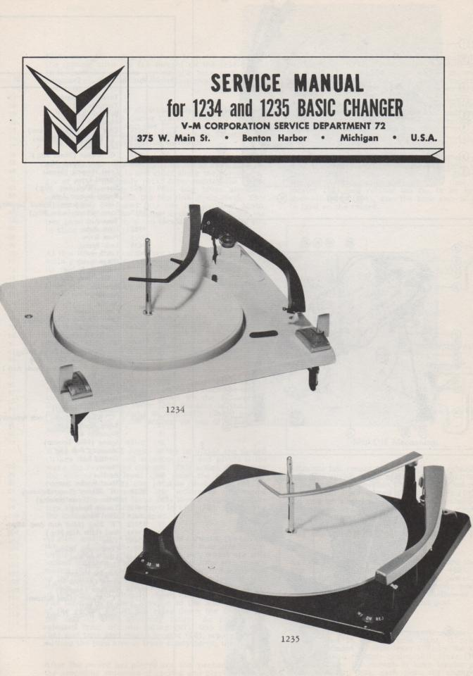 1234 1235 Record Changer Service Manual