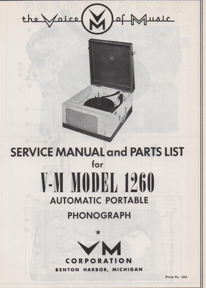 1260 Record Player Service Manual
