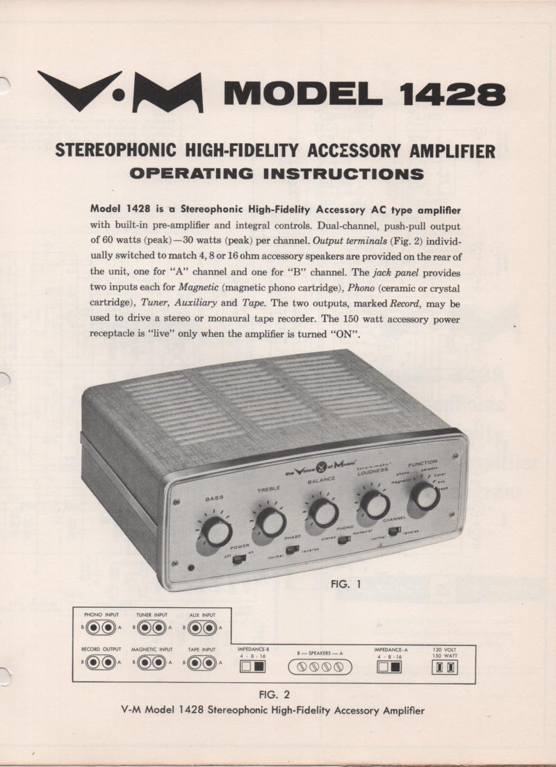 1428 Amplifier Service Manual