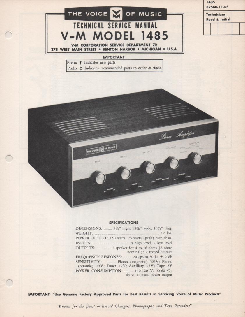 1486 Amplifier Service Manual