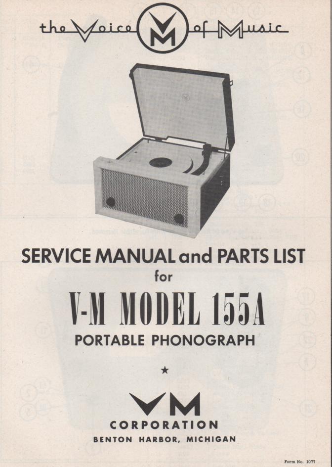 155A Portable Phonograph Service Manual