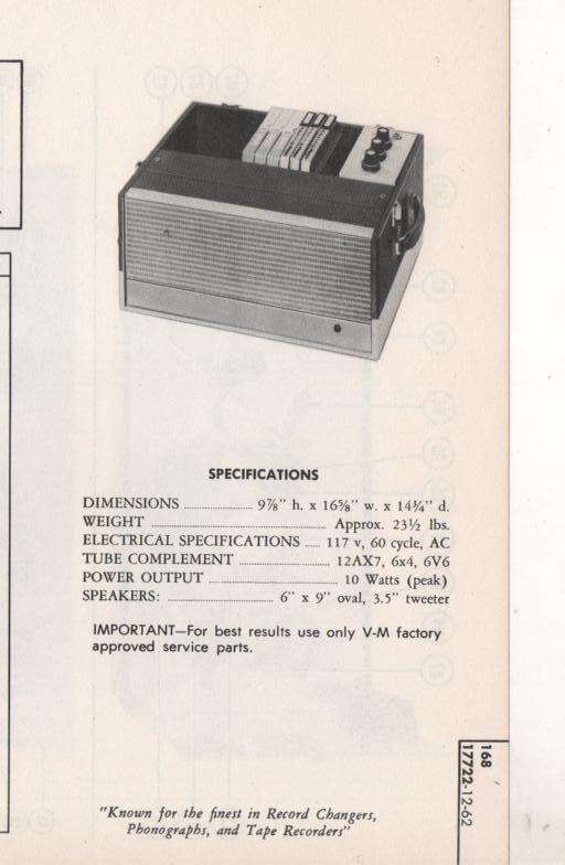 168 Amplifier Service Manual