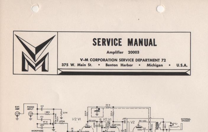 20003 Amplifier Service Manual