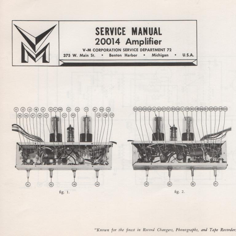 20014 Amplifier Service Manual