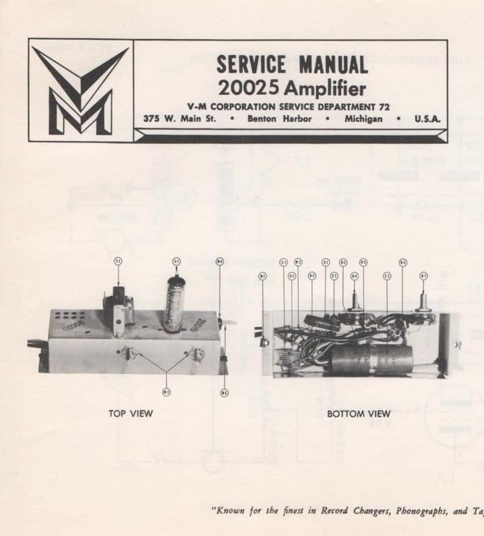20025 Amplifier Service Manual
