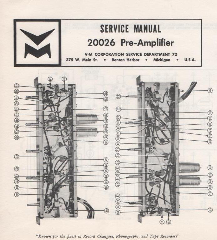 20026 Pre-Amplifier Service Manual