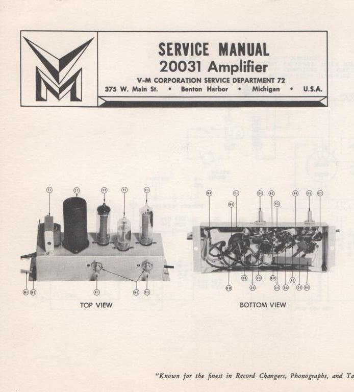 20031 Amplifier Service Manual