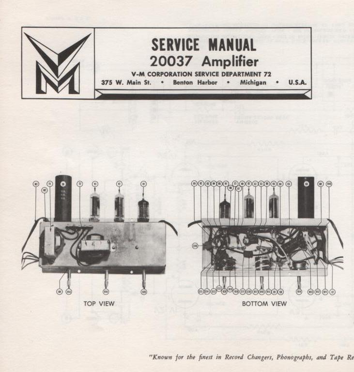 20037 Amplifier Service Manual
