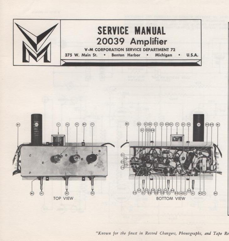20039 Amplifier Service Manual