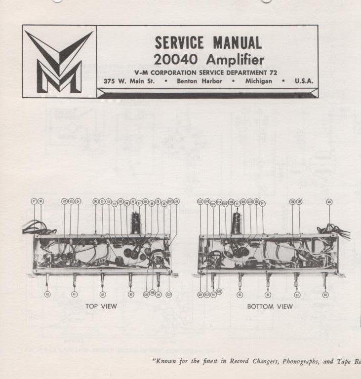 20040 Amplifier Service Manual