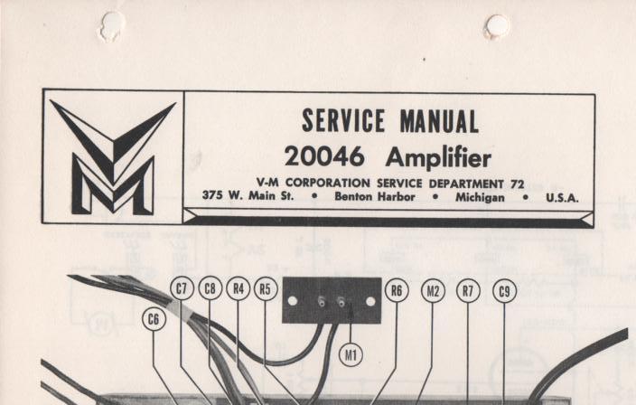 20046 Amplifier Service Manual