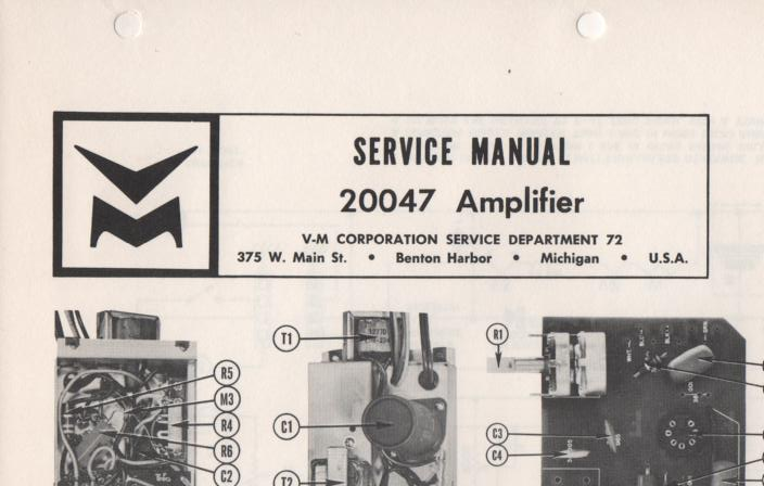 20047 Amplifier Service Manual