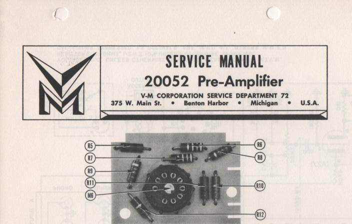 20052 Amplifier Service Manual