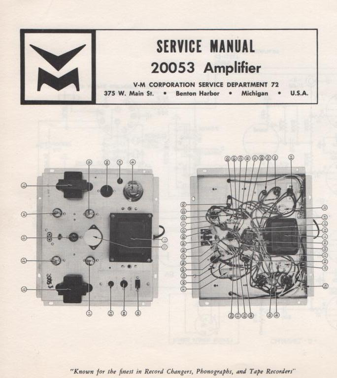 20053 Amplifier Service Manual