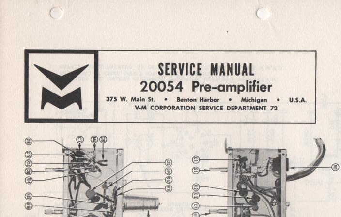 20054 Pre-Amplifier Service Manual