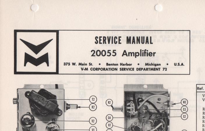 20055 Amplifier Service Manual