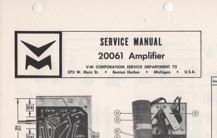 20061 Amplifier Service Manual
