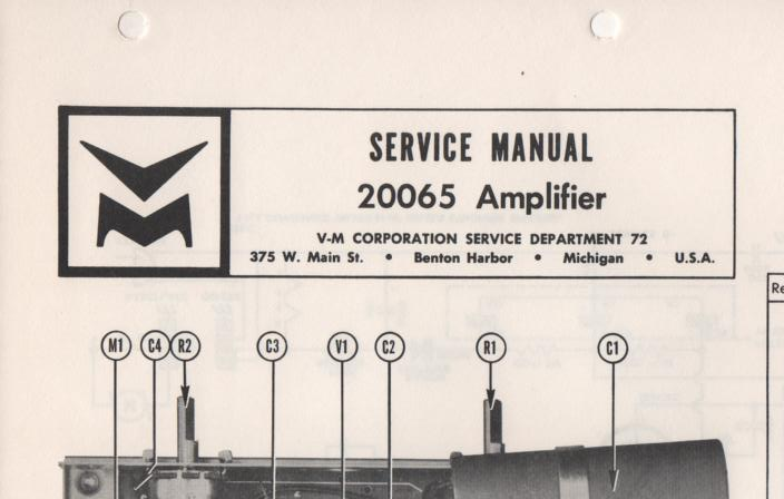 20065 Amplifier Service Manual