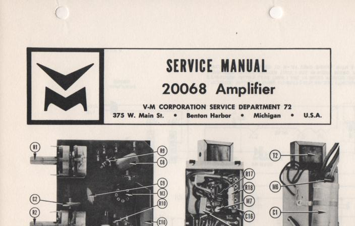 20068 Amplifier Service Manual
