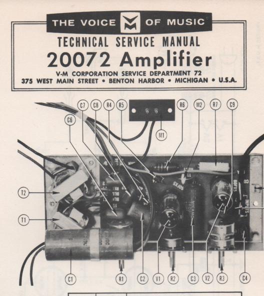 20072 Amplifier Service Manual