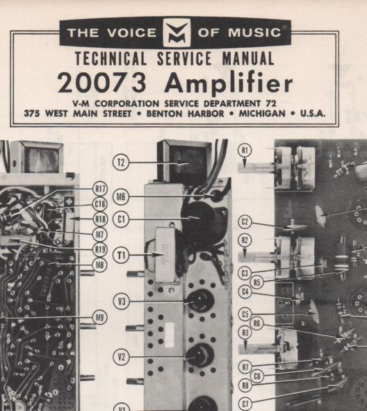 20073 Amplifier Service Manual