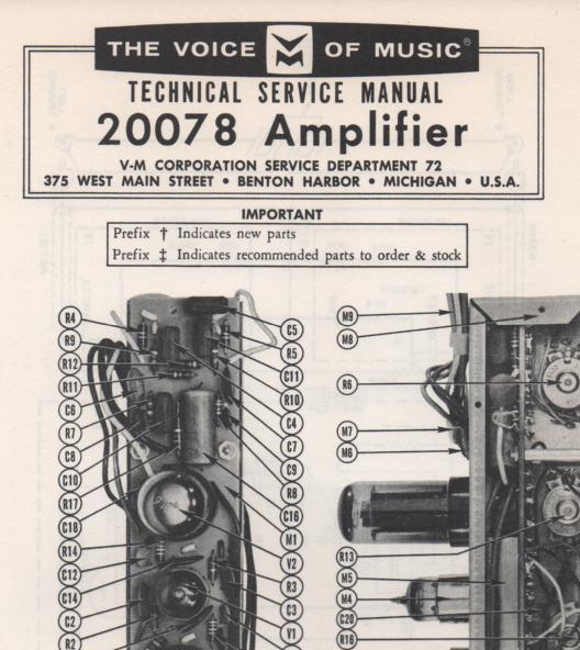 20078 Amplifier Service Manual