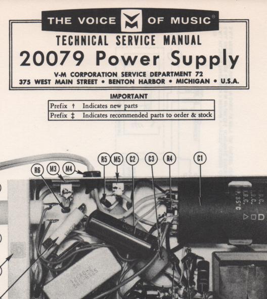 20079 Amplifier Service Manual