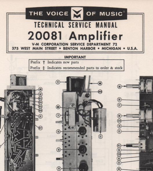 20081 Amplifier Service Manual