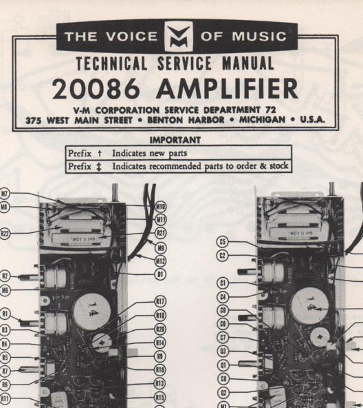 20086 Amplifier Service Manual