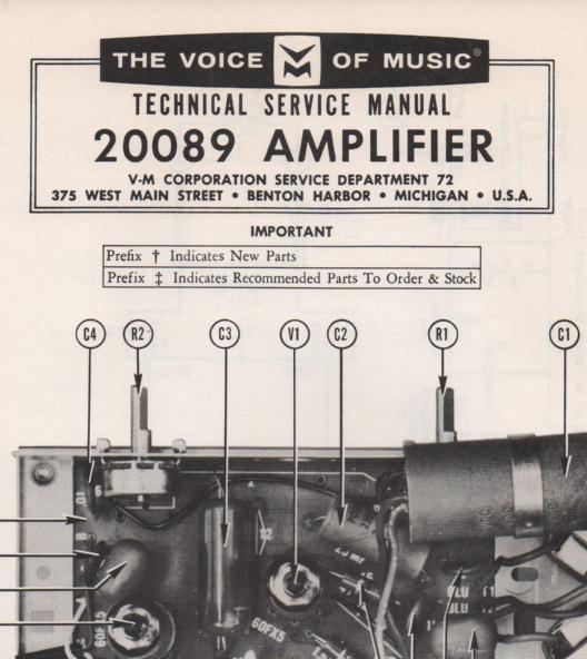 20089 Amplifier Service Manual
