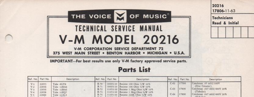 20216 Tuner Amplifier Service Manual