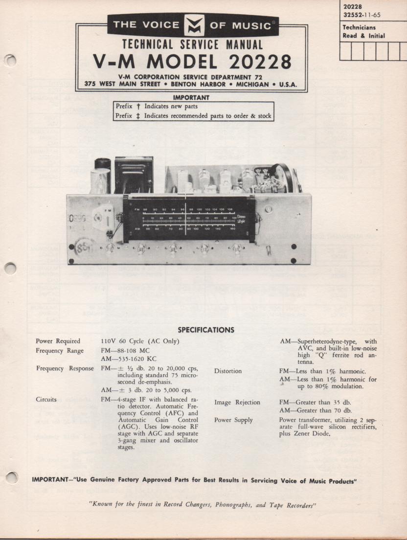 20228 Tuner Amplifier Service Manual