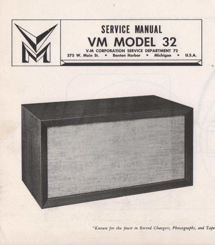 32 Speaker Service Manual