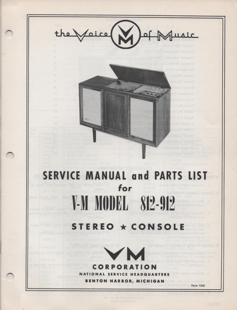 812 912 Console Service Manual