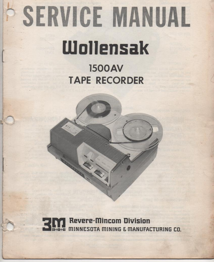1500AV Reel to Reel Service Manual  WOLLENSAK