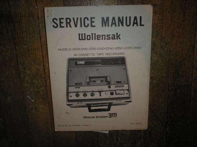 2505 2510 2515 2520 2540 2550 2555 2560 AV Cassette Tape Recorder Service Manual