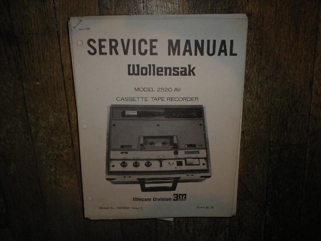 2520 AV Cassette Recorder Service Manual
